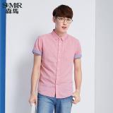 Beli Semir Musim Panas Baru Pria Pendek Warna Solid Shirt Semangka Merah Dengan Kartu Kredit