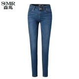 Semir Musim Panas Baru Wanita Korea Kasual Polos Zip Panjang Penuh Lurus Cotton Jeans Dark Blue Semir Diskon 40