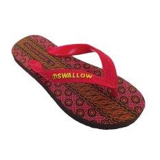 Sendal Jepit Pria Swallow Motif Batik Red size 9,5 / 39