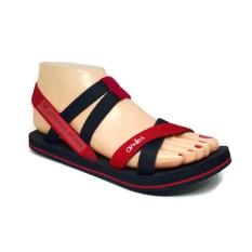 [ Johnson Shoes ] Sandal Tali Karet Wanita Omiles Ivanka Black Red
