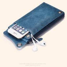 Spesifikasi Sendefn 5105 Baru Fashion Wanita Dompet Kulit Asli Mewah Brand Female Panjang Koin Clutches Dompet Dark Blue Intl Yang Bagus