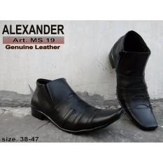 Sepatu Alexander ALX05 Boot Formal Kulit Asli, Sepatu Kantor pria, Sepatu Sekolah, Sepatu Pantofel Kulit Sapi Asli