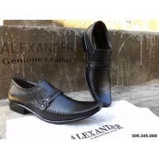 Sepatu Alexander Ax09, sepatu formal kulit, Sepatu Kantor Lancip, Sepatu Pantofelpria Kulit Asli