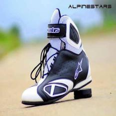 Sepatu Alpinestar Racing Boots Black White