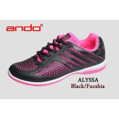 Sepatu Alyssa Black Fuschia Ando Diskon
