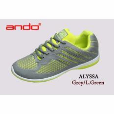 Beli Sepatu Alyssa Grey L Green Murah Indonesia