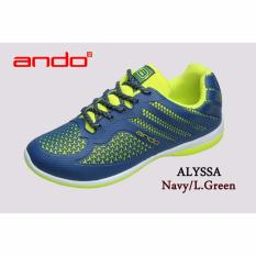 Harga Ando Sepatu Alyssa Navy L Green Online Indonesia