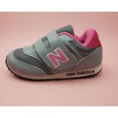 sepatu anak anak sekolah nb abu pink