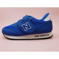sepatu anak anak sekolah nb biru putih uk 23-37