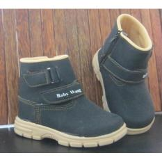 Jual Sepatu Anak Baby Wang Cowboy Black Besar Branded Original