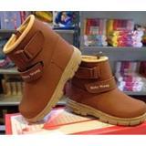 Beli Sepatu Anak Baby Wang Cowboy Brown Besar Kredit