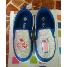 sepatu anak fladeo size 26,28,29 motif waffel biru