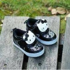 Sepatu Anak Import Karakter Hello Kitty Led - Hitam
