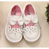 Kualitas Sepatu Anak Import Led Girls Pita Depan Putih Imported