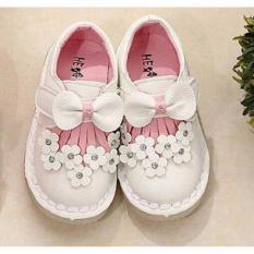 Promo Toko Sepatu Anak Import Led Girls Pita Depan Putih