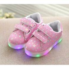 Beli Sepatu Anak Import Star Led Pink Baru