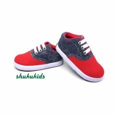 Jual Sepatu Anak Laki Laki Murah Trendy Casual Stylist Abu Merah By Shuku Shuku Original