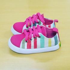 Sepatu anak perempuan lucu pelangi pink by SHUKU