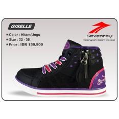 Sepatu Anak Perempuan Sevenray Giselle - Hitam/Ungu