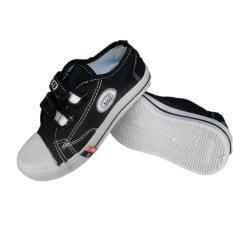 Sepatu Anak Sekolah TK SD SMP NB - Hitam Velcro Murah Ori