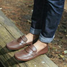 Diskon Sepatu Avail Mocasin Kulit Asli Original Avail Wingstif Coklat Avail