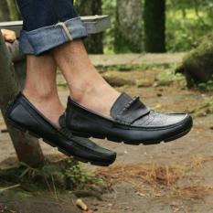 Harga Sepatu Avail Mocasin Kulit Asli Original Avail Wingstif Hitam Branded