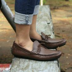 Sepatu avail mocasin kulit asli original avail ZAPATO COKLAT