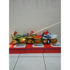 Sepatu Badminton Merk Hart 503 Red/Yellow & Grey/Citroen ! 100%Ori - 753Eb6