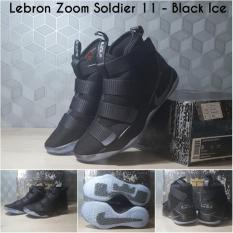 Sepatu Basket Lebron Zoom Soldier 11 Black Ice Gold Navy Maroon Yellow - A9ee79