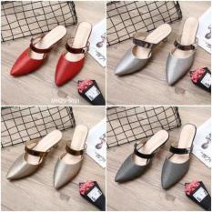 SEPATU BATAM BRANDED HM Glitter New Heel L-2612#