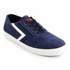 Beli Sepatu Blackmaster Sneaker Kulit Bm Lalalna Navy Dengan Kartu Kredit