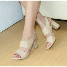 Diskon Sepatu Block Heels Sintetis Cream Nfz 003 Nafiza Jawa Barat
