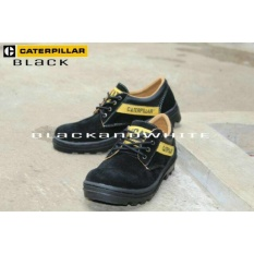 Jual Sepatu Boot Caterpillar Low Safety Boot Suede Hitam Online Indonesia