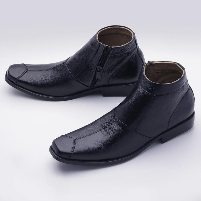 Sepatu Boot Formal  Boot Pantofel Pria KULIT   Sepatu Kerja Pria Kantor  Bisnis Boots Pantopel 61ea6d8639
