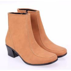 Beli Sepatu Boot High Heels Wanita Boots Cewek Warna Tan Raindoz Rhg 006 Baru