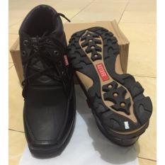 Diskon Produk Sepatu Boot Kulit Sapi Asli Pull Up Black Size 42