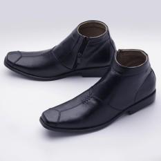 Sepatu Boot Pria Formal Pantofel Resleting Handmade Kulit Asli Boot01