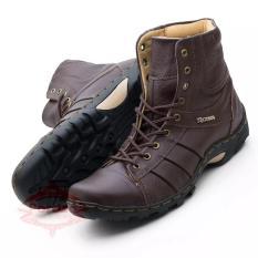Sepatu Boot Pria Kulit Asli/ Boots Casual Tinggi/ Boot Touring Model Kickers 0606HT