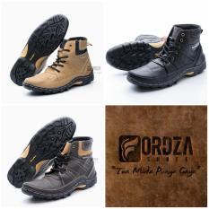 Sepatu Boot Pria Kulit Asli Corrected Grain Boots Touring Fordza Model Casual Tinggi BKS06