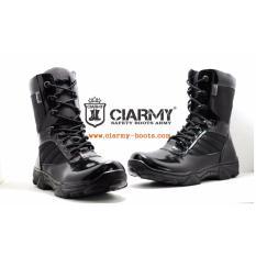 Sepatu Boot Pria Kulit - Sepatu PDL Boots Army Merk Ciarmy C-01C3