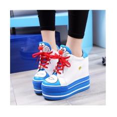 Beli Sepatu Boot Wanita Doraemon Lucu Warna Biru Lengkap