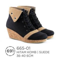 Sepatu Booth Wanita/sepatu wedges keren/sepatu cibaduyut/sepatu bandung branded original by azzurra