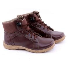 Sepatu Boots Anak Laki-Laki Cowok Warna Coklat GC GRN 9094