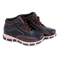 Sepatu Boots Anak Laki-Laki Cowok Warna Hitam Komb GC GMU 9060