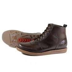 Beli Sepatu Boots Brodo Pria Terlaris Dr Becco Jgr Coklat Tua Cicilan