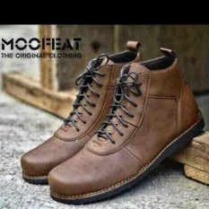 Sepatu Boots Casual Brodo Moofeat Brodo Leather (Coklat)