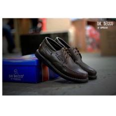 Sepatu Boots CASUAL DR. BECCO Kerja Formal Kulit Asli Safety Original Murah Hitam Tan Coklat SEPATU PROYEK LAPANGAN PDH PDL [ BroDo Yongki Joe Kickers Faris Pantofel PDL Touring Cevany Wolf ]