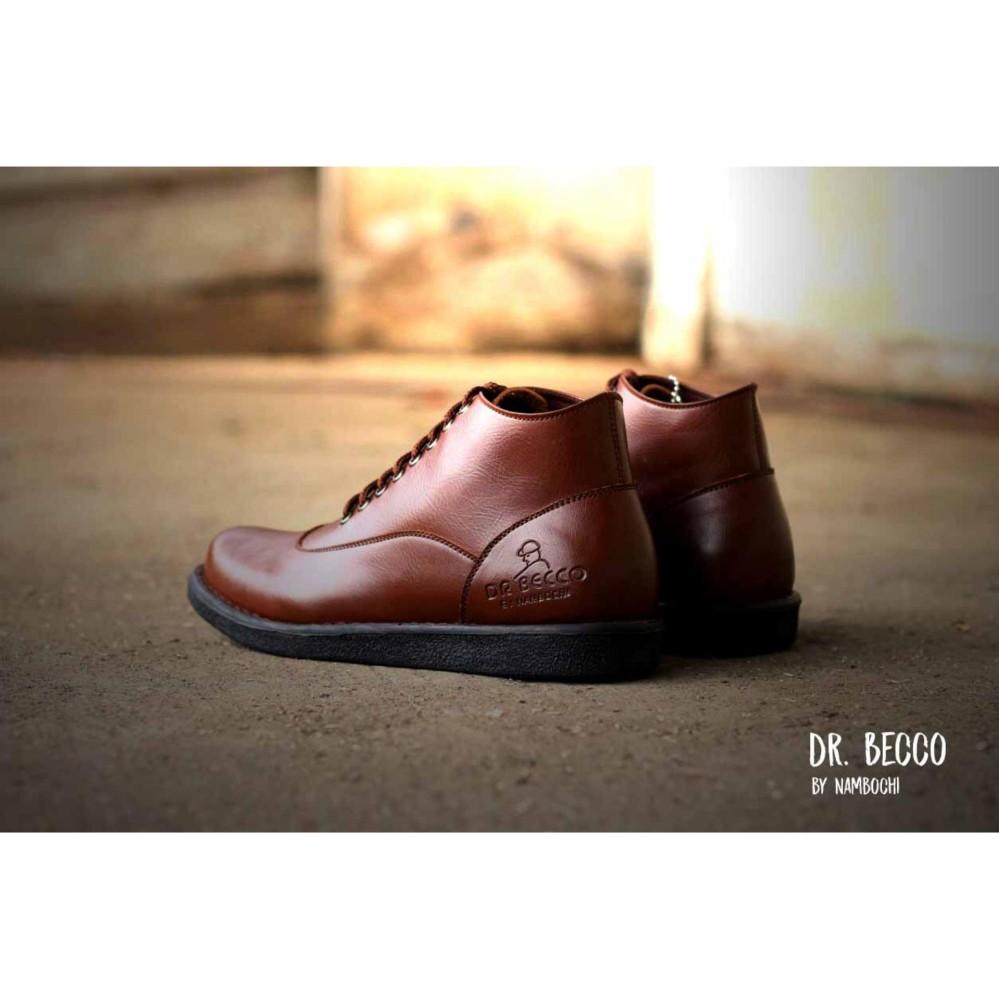 Sepatu BOOTS CASUAL Formal Pria DR. BECCO Slip On Kerja Formal Kulit Asli Safety Original