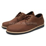 Promo Sepatu Boots Casual Kulit Pria Moofeat Original Hitam Coklat Navy Ocean Cevany Kickers Moofeat