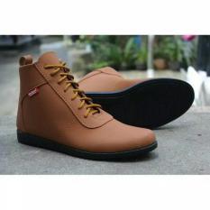 Review Sepatu Boots Casual Pria Kickers Brodo Eksklusif Mewah Brown Terbaru